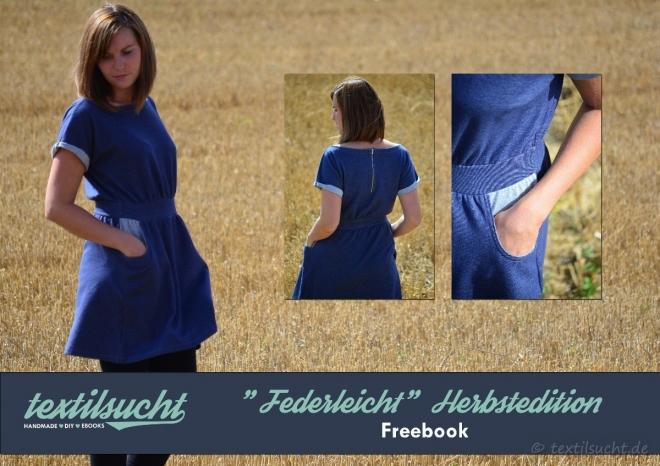 Nähanleitung Herbstkleid Federleicht: Kostenlose Anleitung für ein Herbstkleid - Produktbild