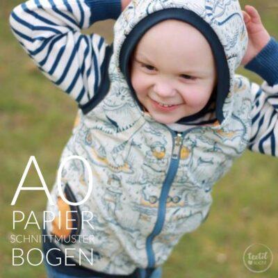 Papierschnittmuster Jacke/Weste (Kl)eingepackt für Kinder