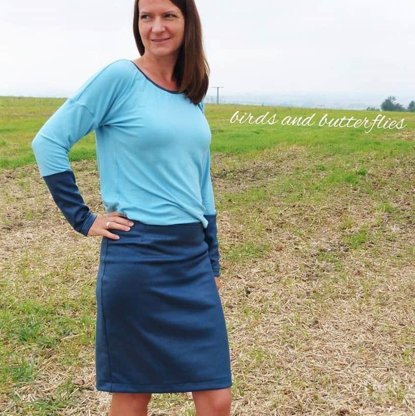 Schnittmuster Kleid Rock und Shirt Florenz - inkl. Nähanleitung ...