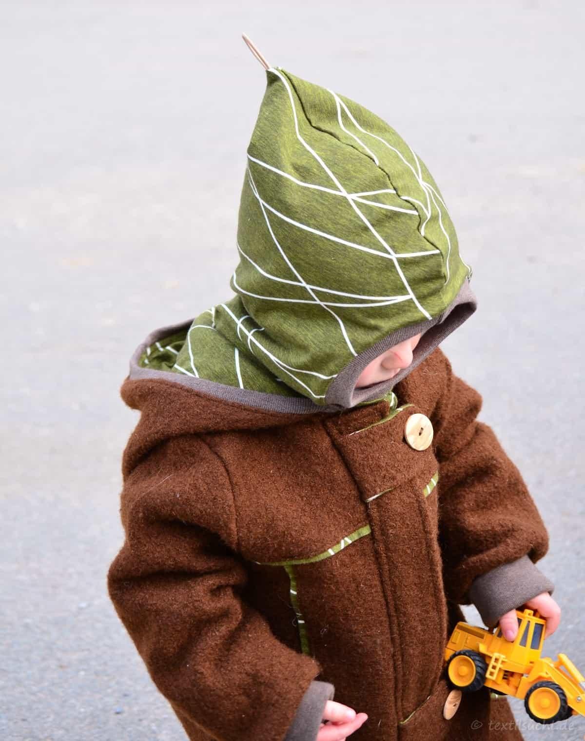 Draußenkind von Lotte und Ludwig als Overall aus Wollwalk - Bild 2 | textilsucht.de