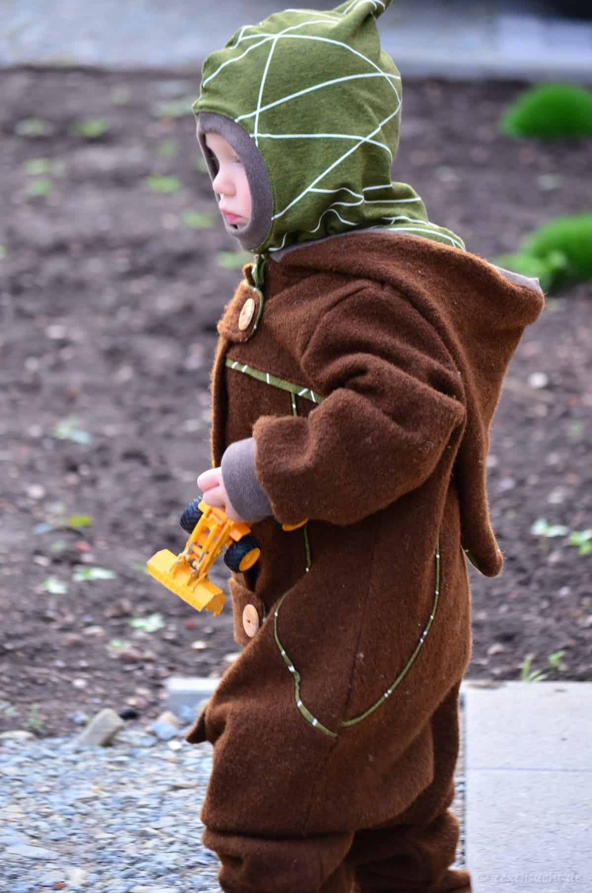 Draußenkind von Lotte und Ludwig als Overall aus Wollwalk - Bild 5 | textilsucht.de