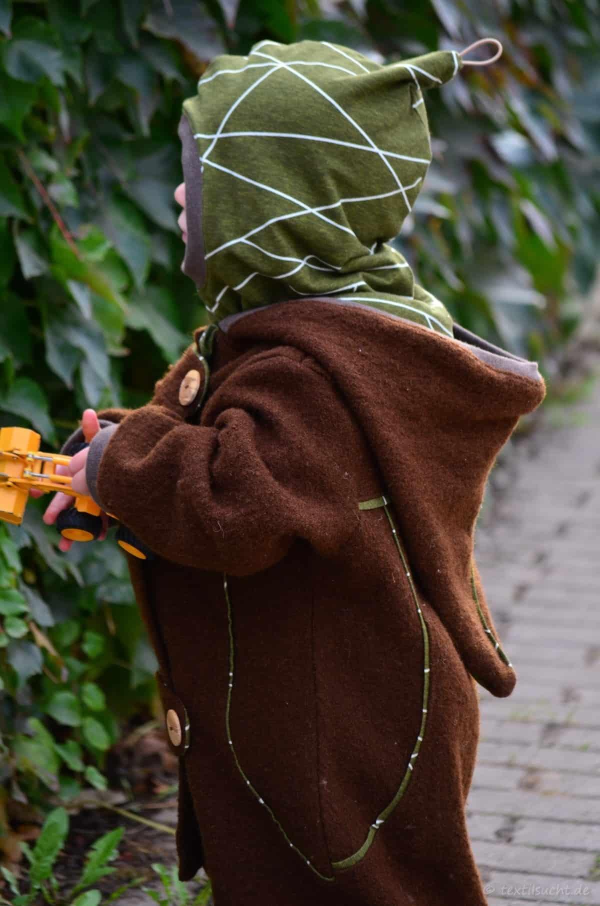 Draußenkind von Lotte und Ludwig als Overall aus Wollwalk - Bild 7 | textilsucht.de