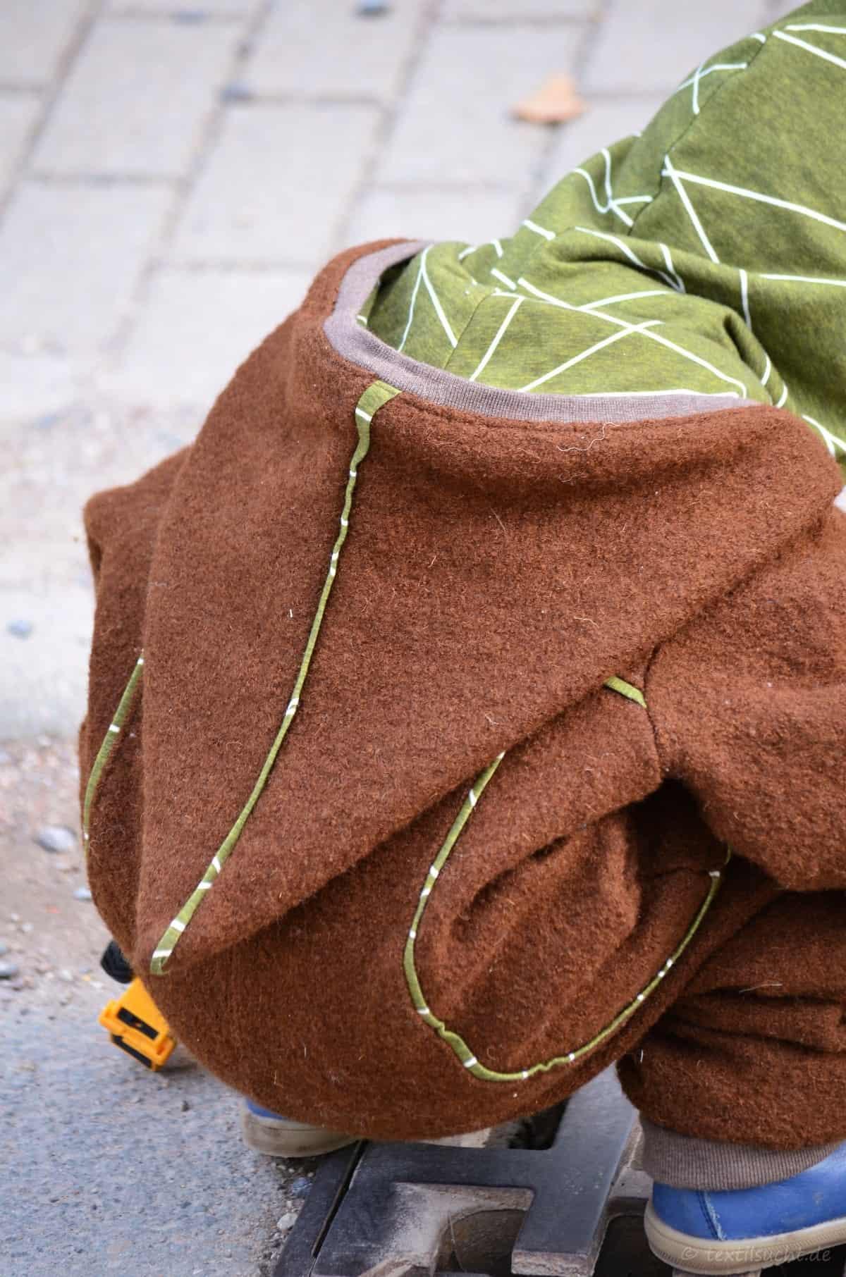 Draußenkind von Lotte und Ludwig als Overall aus Wollwalk - Bild 4 | textilsucht.de