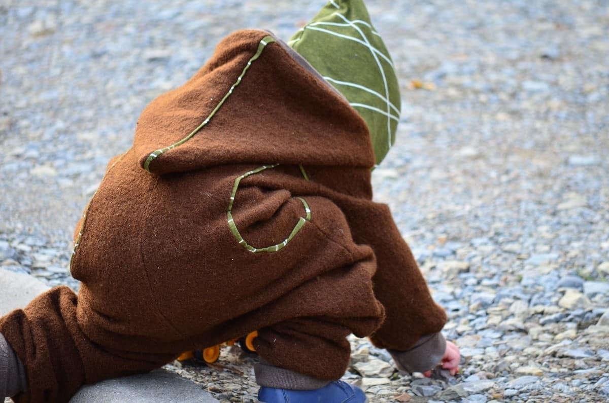 Draußenkind von Lotte und Ludwig als Overall aus Wollwalk - Bild 9 | textilsucht.de
