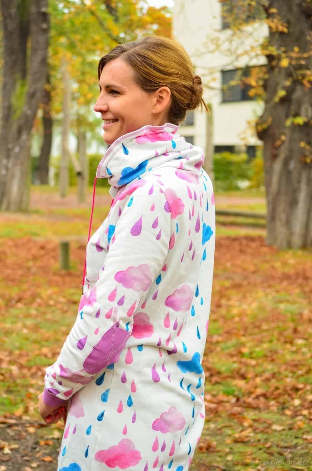 Mein neuer Herzkönigin Sweater in weiß und pink - Bild 8 | textilsucht.de