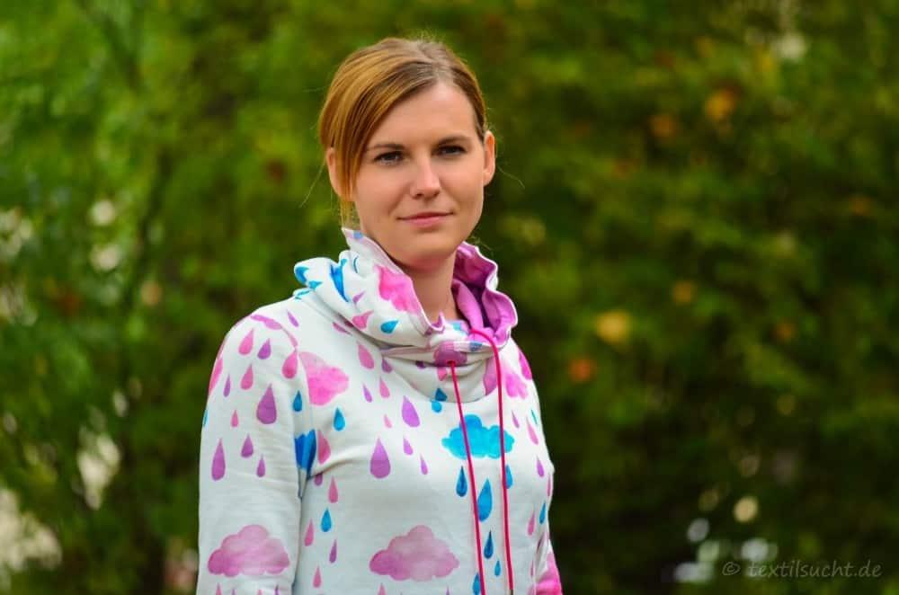 Mein neuer Herzkönigin Sweater in weiß und pink - Bild 7 | textilsucht.de