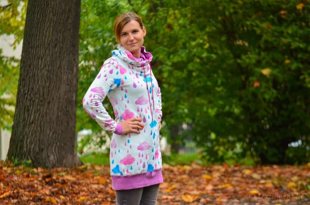 Mein neuer Herzkönigin Sweater in weiß und pink - Bild 4 | textilsucht.de