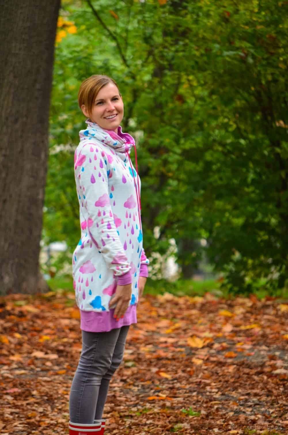 Mein neuer Herzkönigin Sweater in weiß und pink - Bild 5 | textilsucht.de
