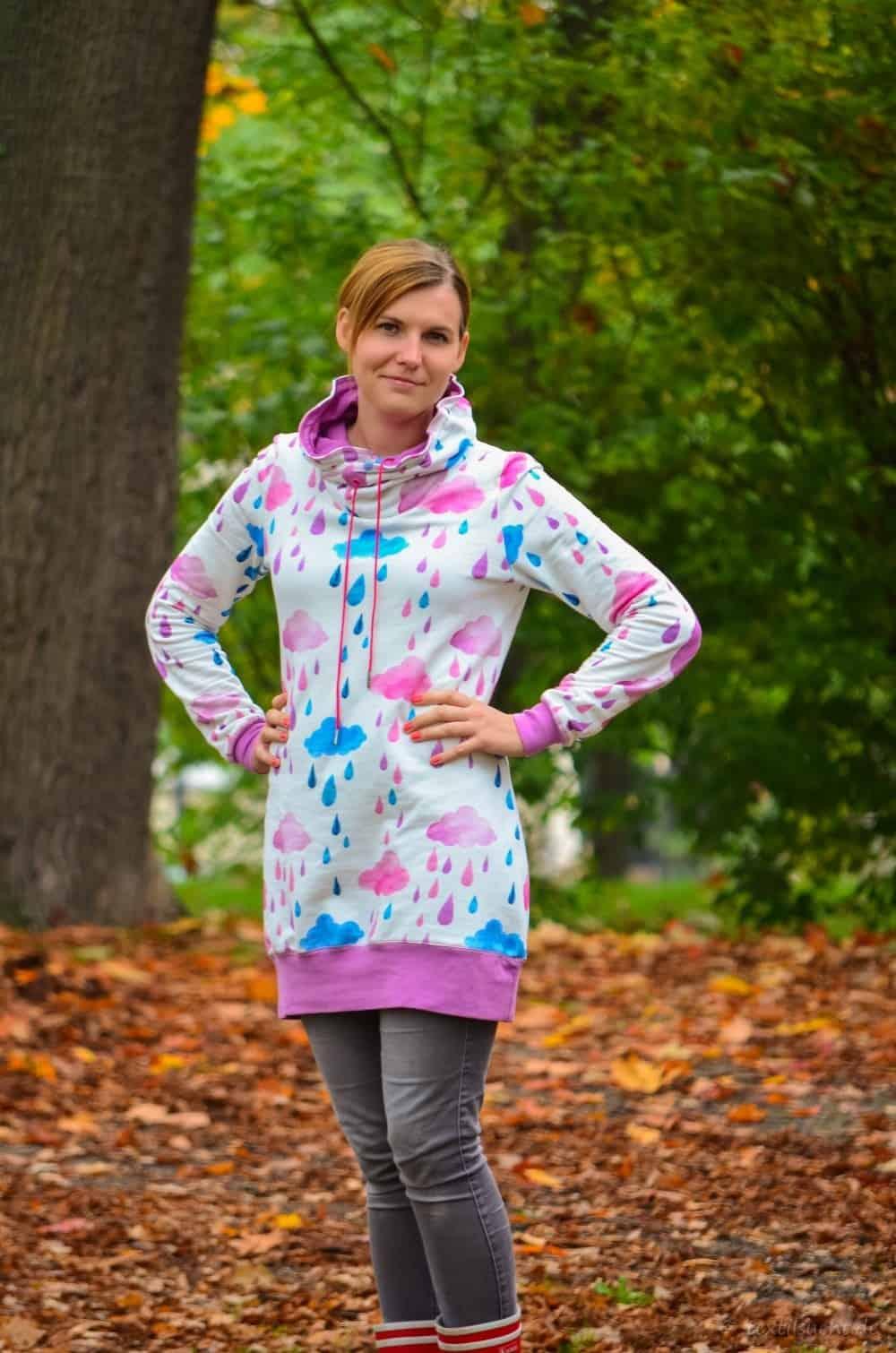 Mein neuer Herzkönigin Sweater in weiß und pink - Bild 3 | textilsucht.de