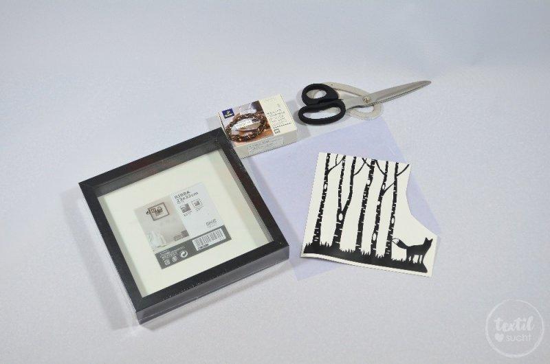 Einen beleuchteten Bilderrahmen basteln - Bild 1 | textilsucht.de