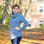 Preview: Pullover Leara mit Schalkragen