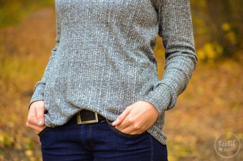 Pullover nähen: Leara mit großem Schalkragen - Bild 6 | textilsucht.de