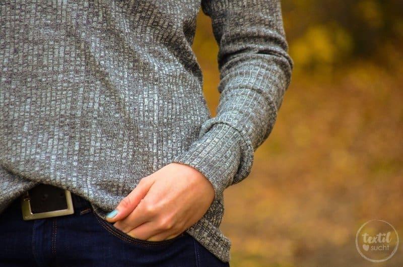 Pullover nähen: Leara mit großem Schalkragen - Bild 2 | textilsucht.de