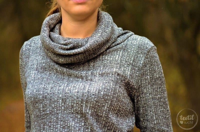 Pullover nähen: Leara mit großem Schalkragen - Bild 3 | textilsucht.de