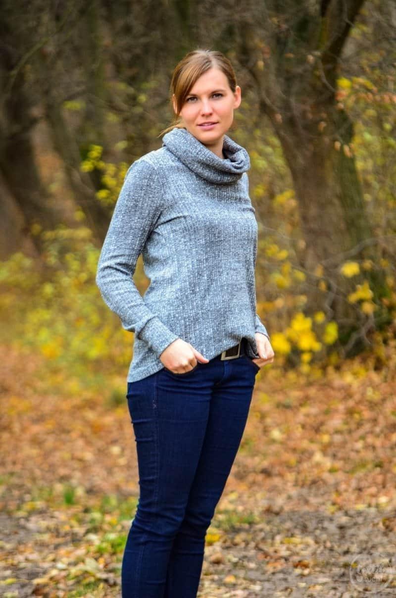 Pullover nähen: Leara mit großem Schalkragen - Bild 5 | textilsucht.de