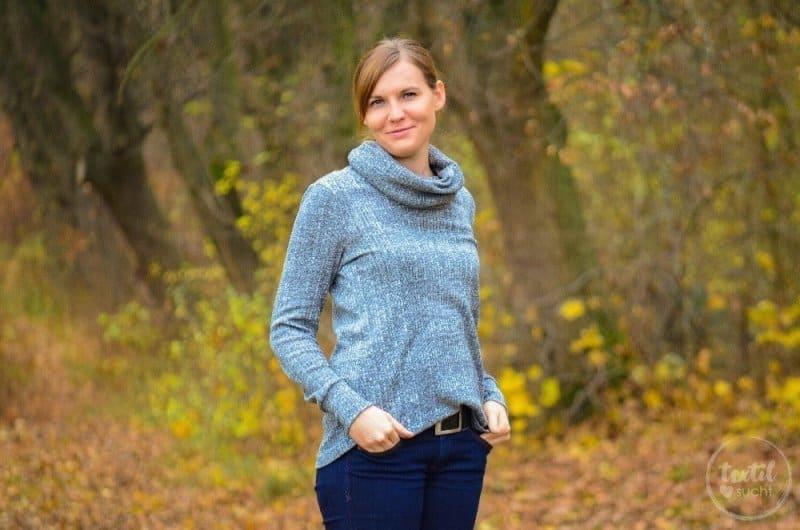 Pullover nähen: Leara mit großem Schalkragen - Bild 1 | textilsucht.de