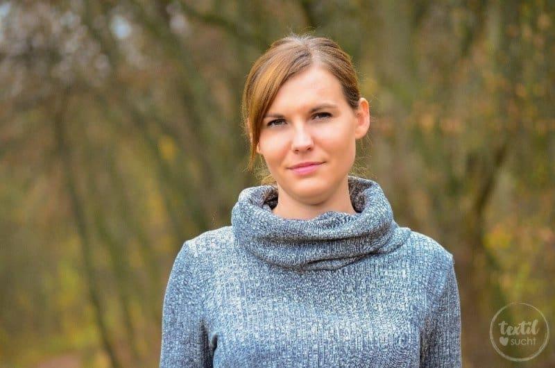 Pullover nähen: Leara mit großem Schalkragen - Bild 7 | textilsucht.de