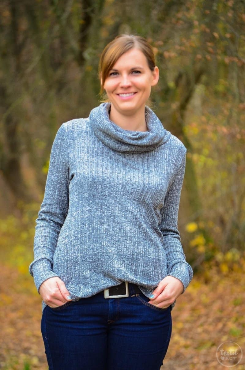 Pullover nähen: Leara mit großem Schalkragen - Bild 8 | textilsucht.de