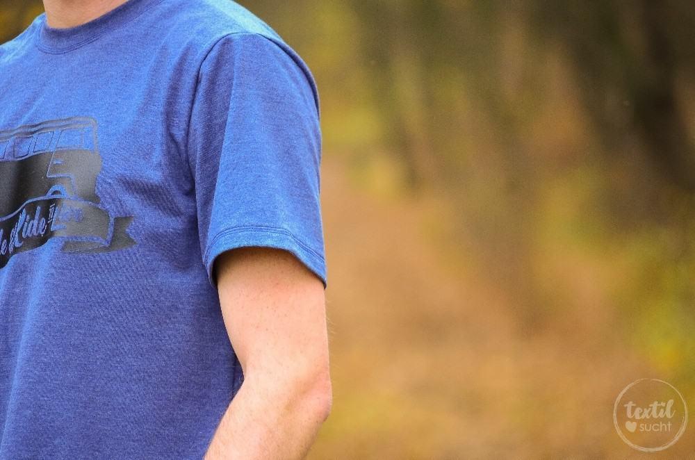 Nähen für Männer: Schnittmuster Herrenshirt Rio als Kurzarmshirt mit Bulli Plott - 2 | textilsucht.de