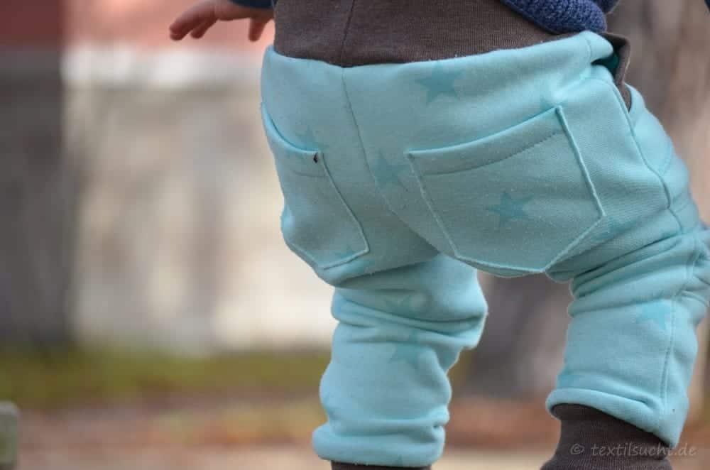 Schnittmuster Kinderhose Steppo aus Sweat - Titelbild | textilsucht.de