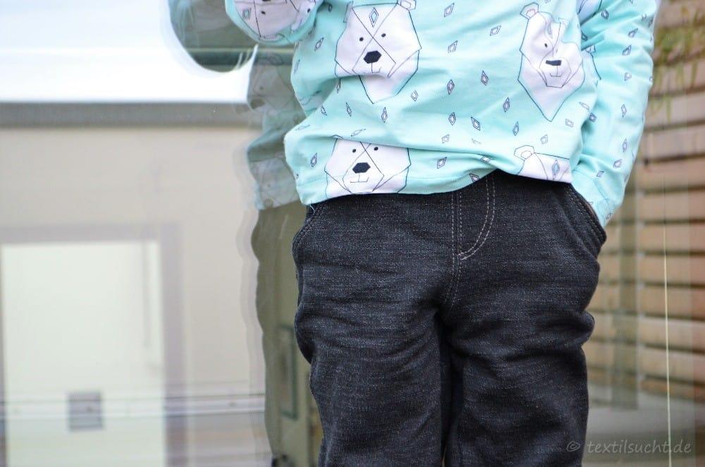 Schnittmuster Kinderhose Steppo aus Wollsweat - Bild 5 | textilsucht.de