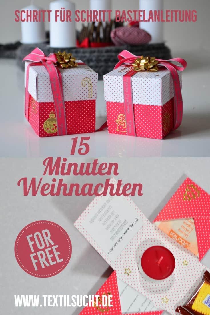 15 Minuten Weihnachten Anleitung.Zeit Verschenken 15 Minuten Weihnachten Textilsucht