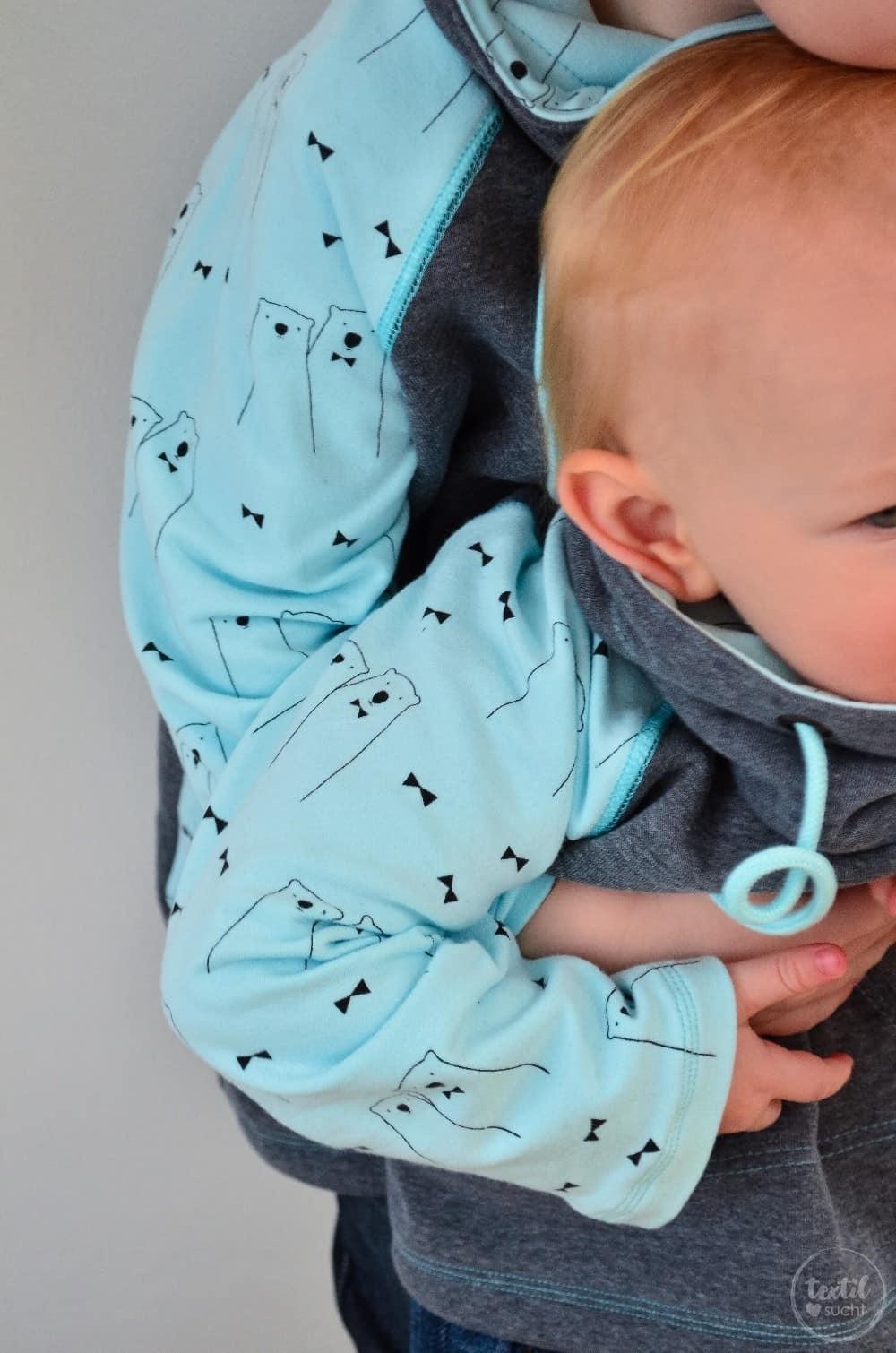 Schnittmuster Raglansweater für Kinder: Max und Maxi mit Kuschelkragen - Bild 7 | textilsucht.de
