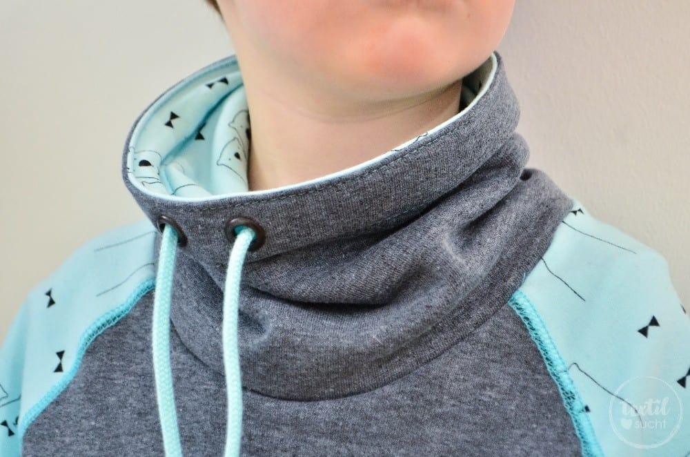 Schnittmuster Raglansweater für Kinder: Max und Maxi mit Kuschelkragen - Bild 6 | textilsucht.de