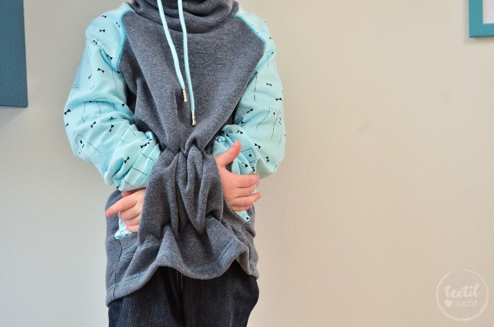 Schnittmuster Raglansweater für Kinder: Max und Maxi mit Kuschelkragen - Bild 3 | textilsucht.de