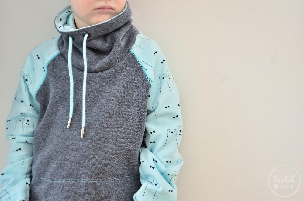 Schnittmuster Raglansweater für Kinder: Max und Maxi mit Kuschelkragen - Bild 2 | textilsucht.de