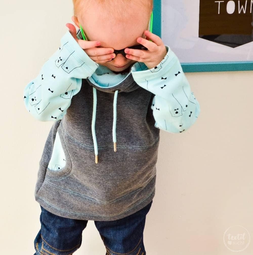 Schnittmuster Raglansweater für Kinder: Max und Maxi mit Kuschelkragen - Bild 1 | textilsucht.de