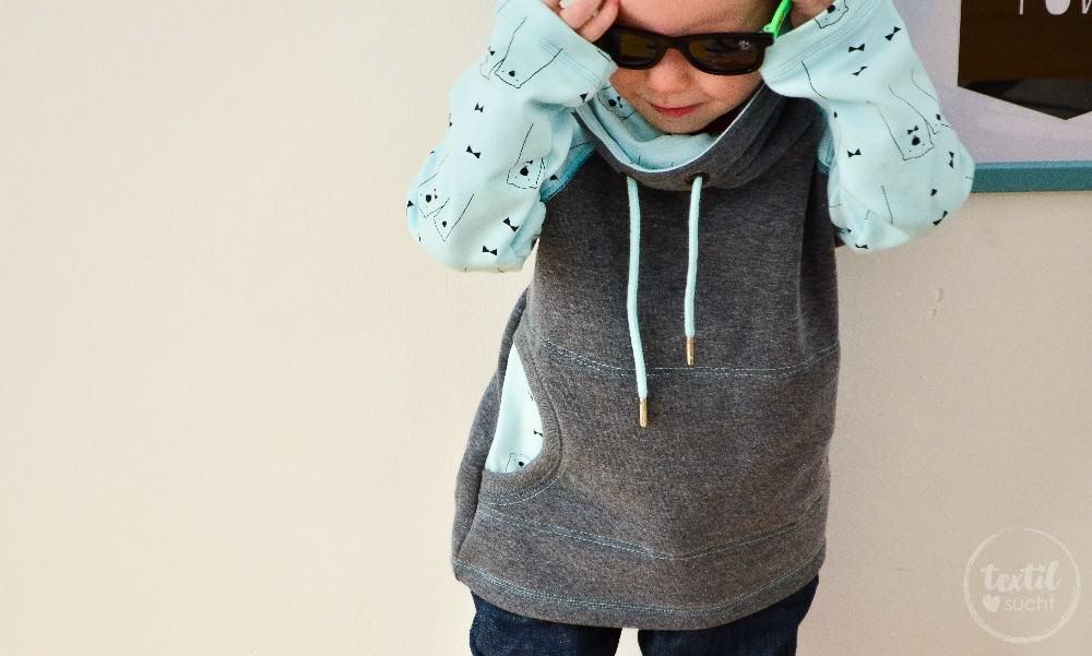 Schnittmuster Raglansweater für Kinder: Max und Maxi mit Kuschelkragen - Bild 4 | textilsucht.de