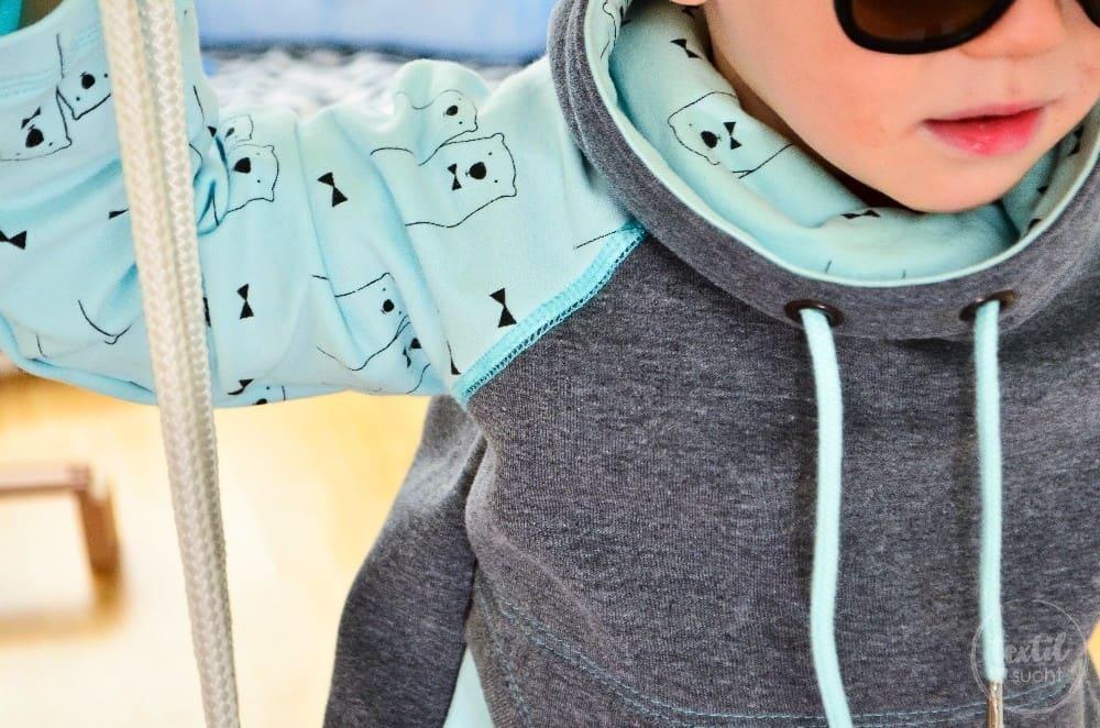 Schnittmuster Raglansweater für Kinder: Max und Maxi mit Kuschelkragen - Bild 5 | textilsucht.de