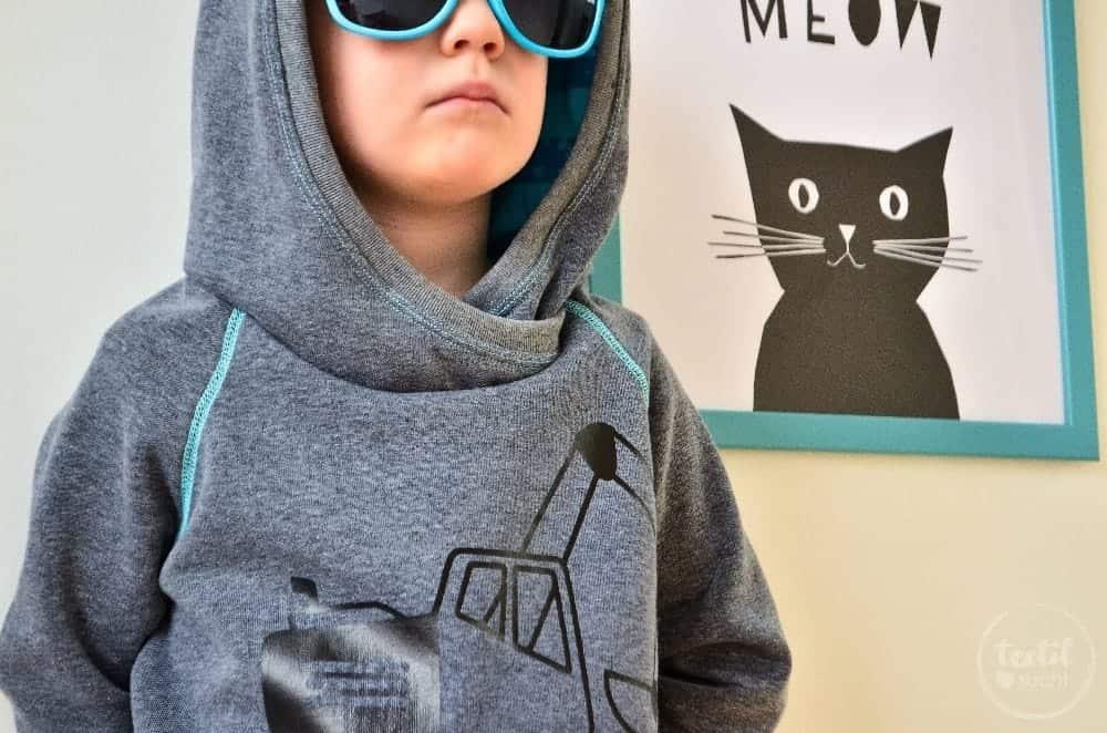 Kapuzenpullover nähen: Raglansweater Max und Maxi