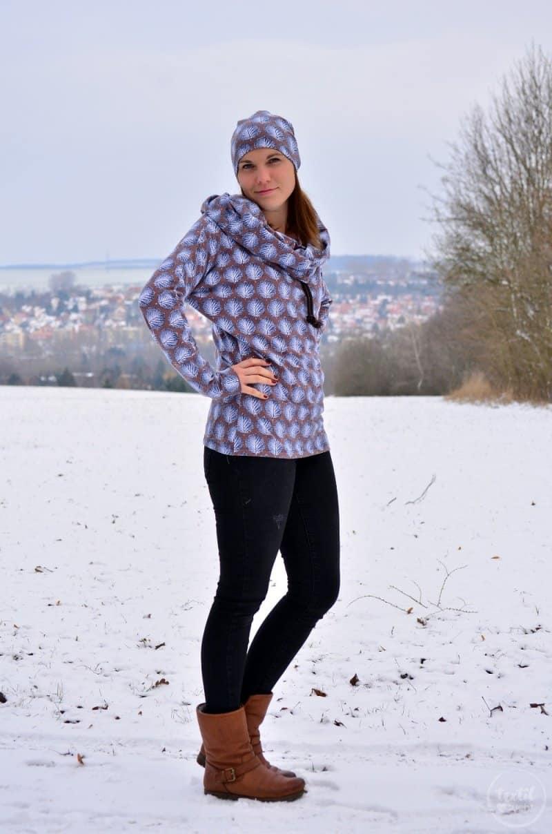 Mein neues selbstgenähtes Wintershirt: Lillestoff Winterblatt trifft auch Frau Madita - Bild 1 | textilsucht.de