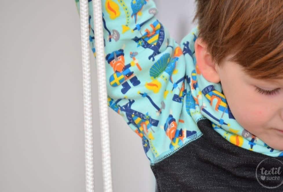 Kinderkleidung nähen: Pullover und Hose aus Wikinger Sweat von Swafing - Bild 8 | textilsucht.de