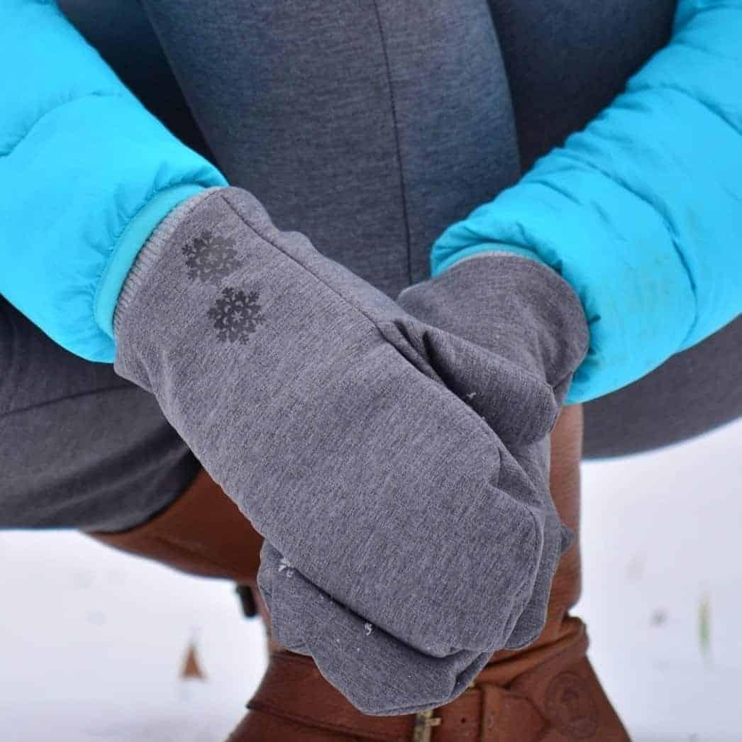 Freebook: Schnittmuster Fäustling Handschuh für Kinder und Erwachsene