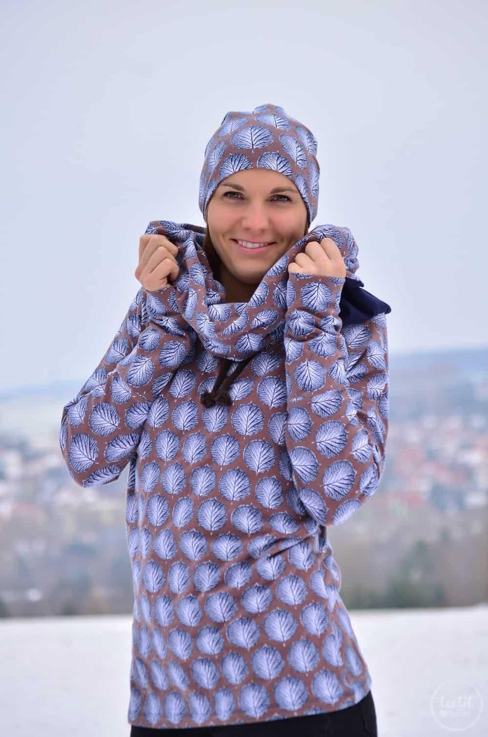 Mein neues selbstgenähtes Wintershirt: Lillestoff Winterblatt trifft auch Frau Madita - Bild 3   textilsucht.de
