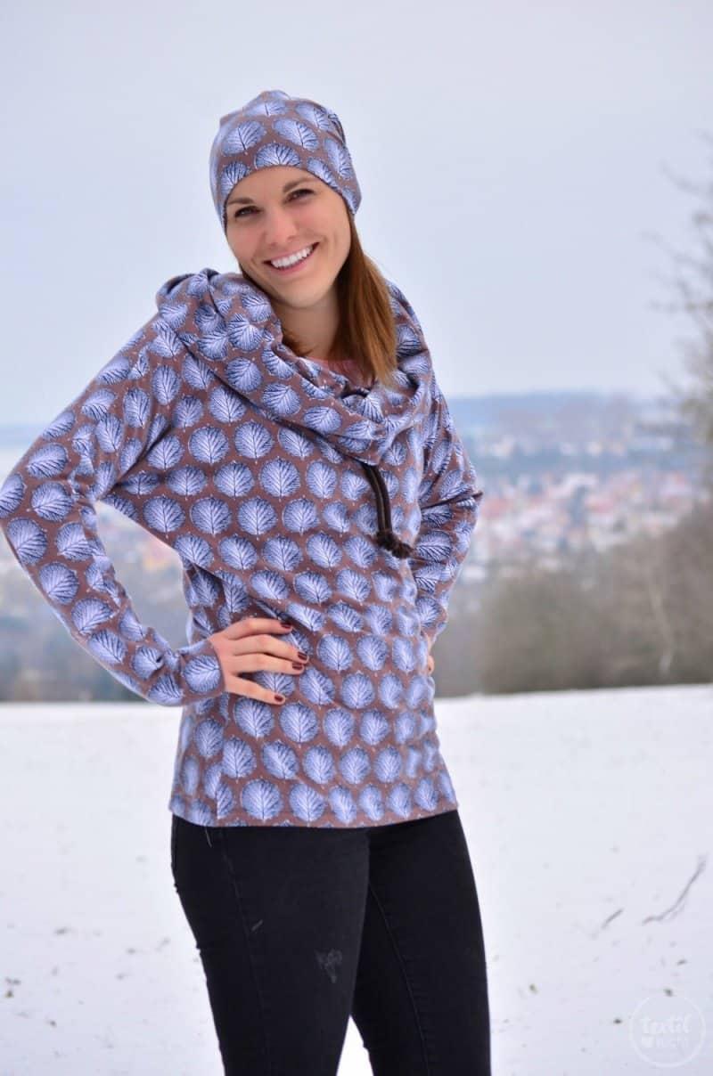Mein neues selbstgenähtes Wintershirt: Lillestoff Winterblatt trifft auch Frau Madita - Bild 8 | textilsucht.de