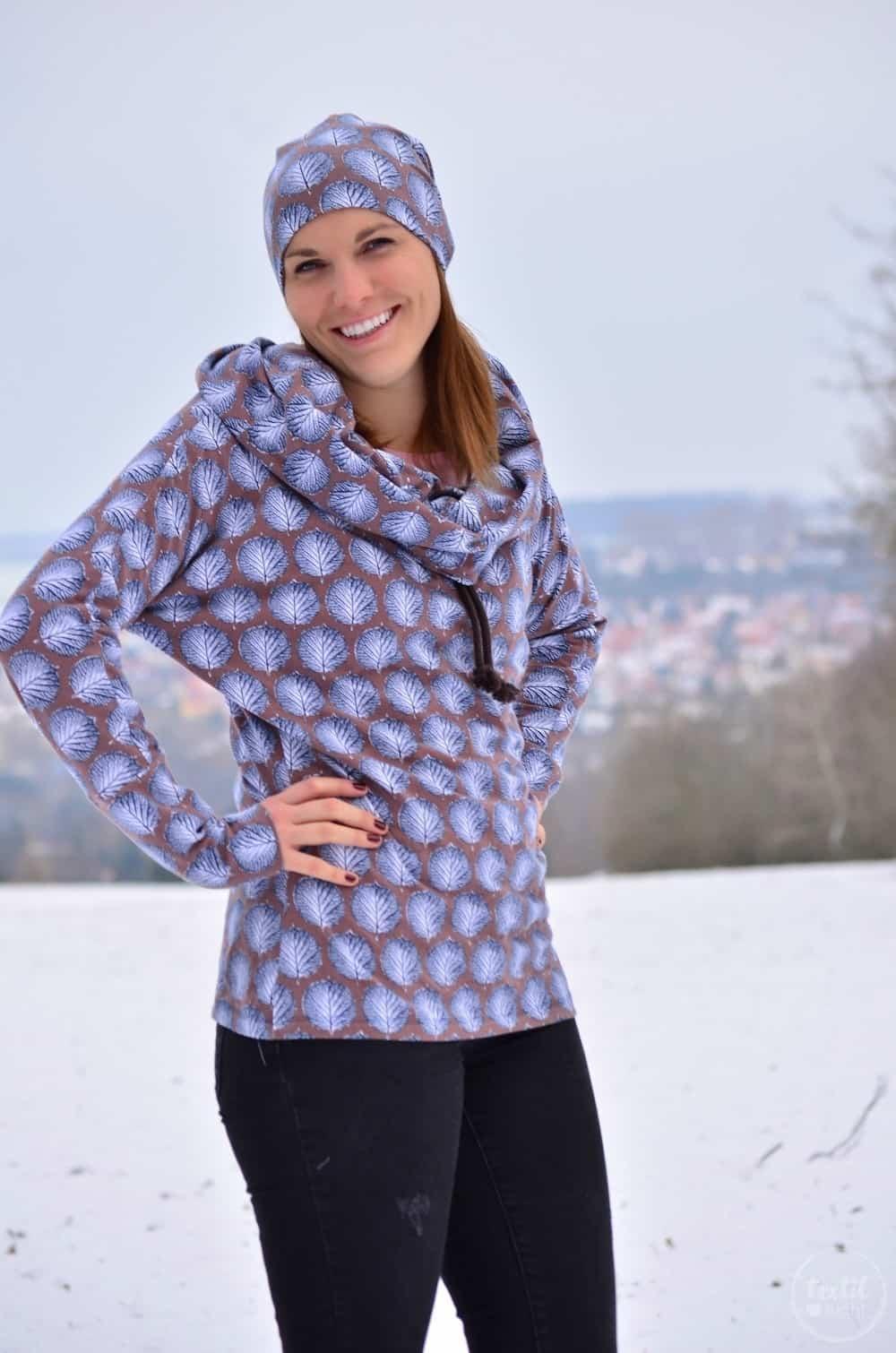 Mein neues selbstgenähtes Wintershirt: Lillestoff Winterblatt trifft auch Frau Madita - Bild 8   textilsucht.de