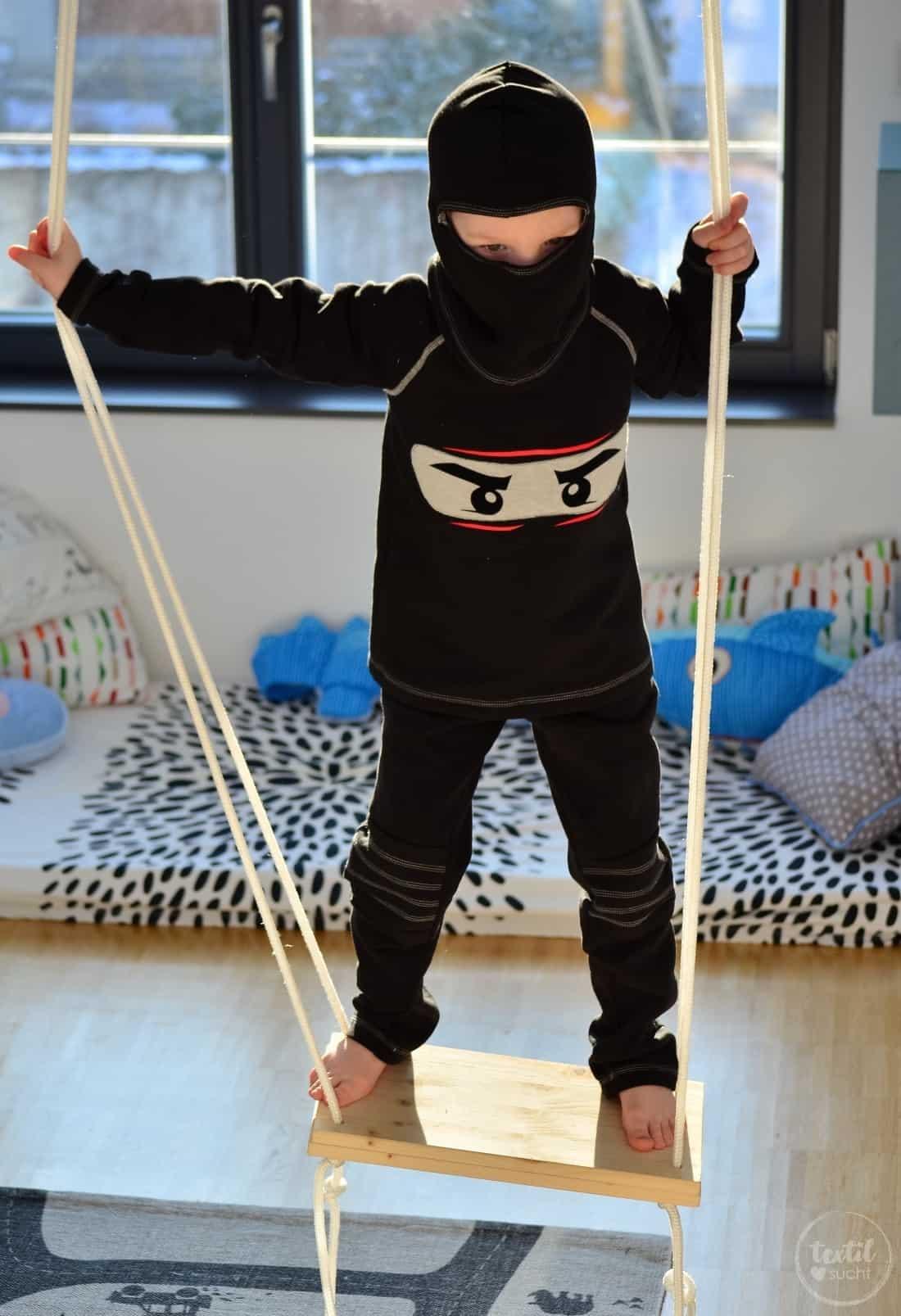 Faschingskostüm nähen: Ein selbstgenähtes Ninjakostüm » Textilsucht®