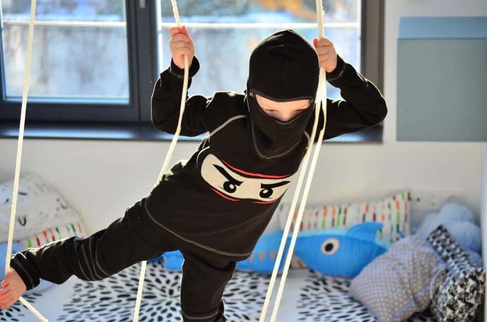 Faschingskostüm nähen: Ein selbstgenähtes Ninjakostüm - Bild 2   textilsucht.de