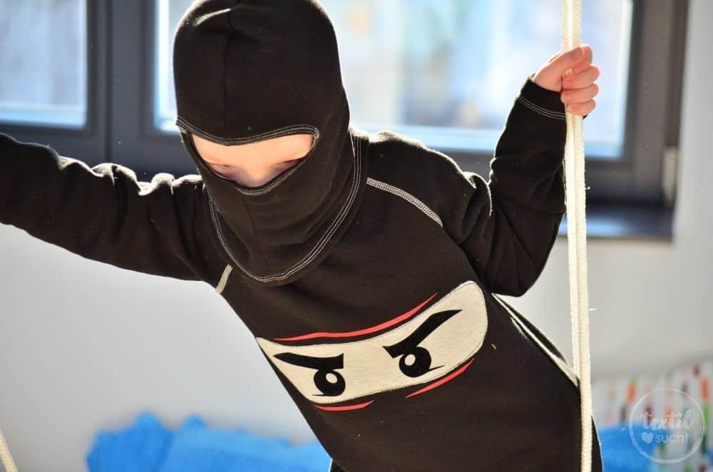 Faschingskostüm nähen: Ein selbstgenähtes Ninjakostüm - Bild 3   textilsucht.de