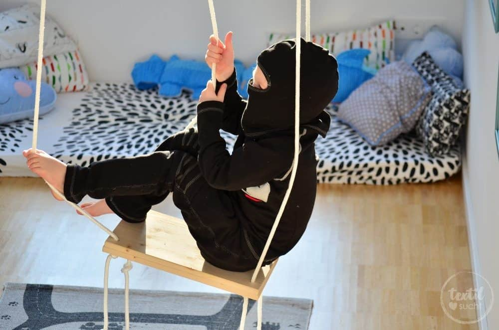 Faschingskostüm nähen: Ein selbstgenähtes Ninjakostüm - Bild 6   textilsucht.de