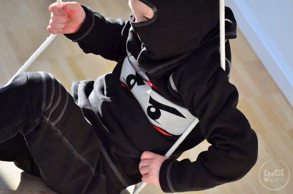 Faschingskostüm nähen: Ein selbstgenähtes Ninjakostüm - Bild 7   textilsucht.de