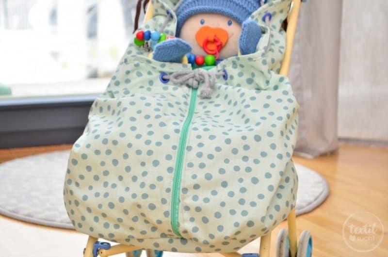 Kostenlose Nähanleitung: Fußsack für den Puppenwagen nähen - Bild 1 | textilsucht.de