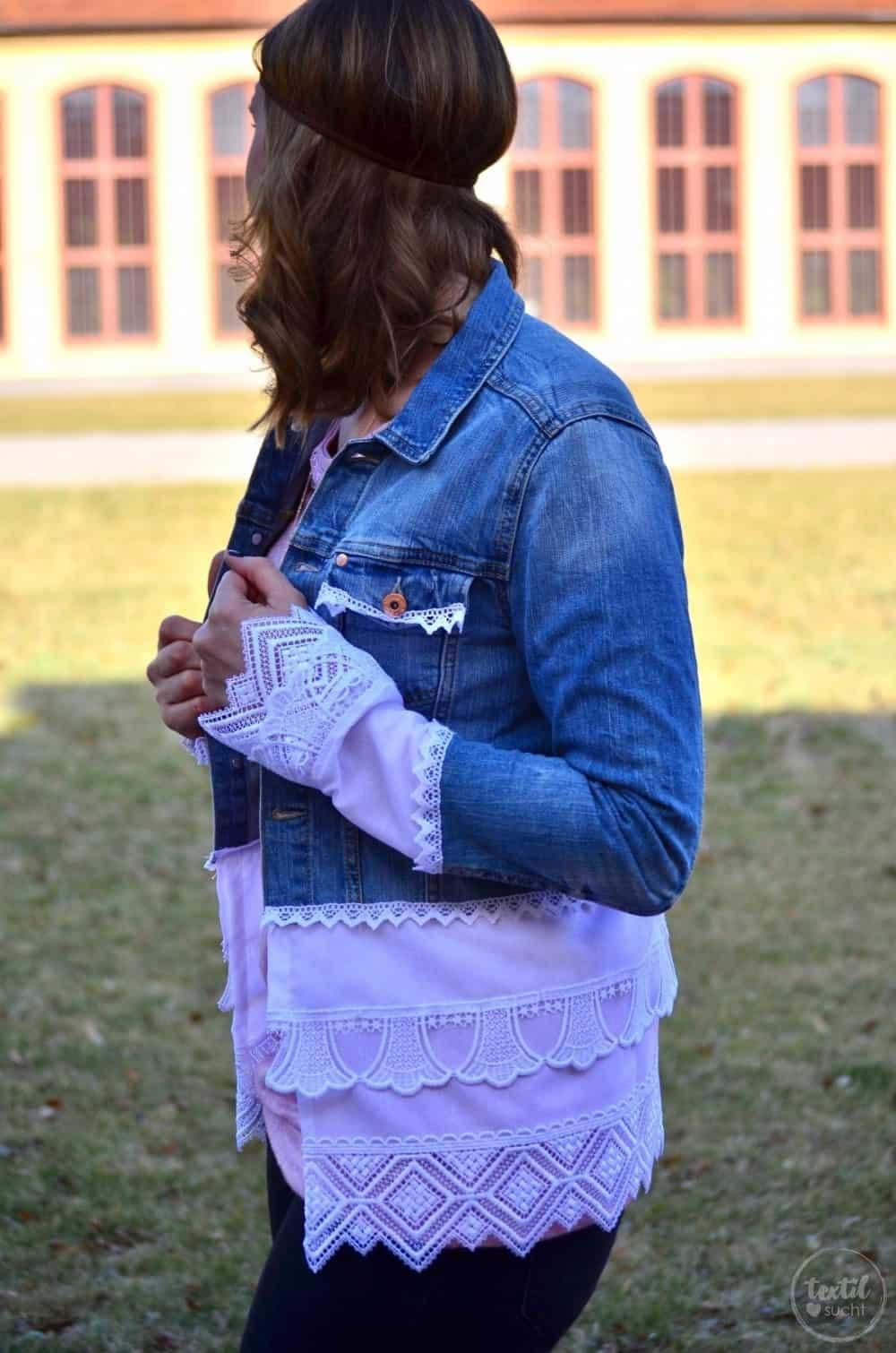 Tutorial: Jeansjacke Upcycling - Die fertige Jacke - Bild 4 | textilsucht.de