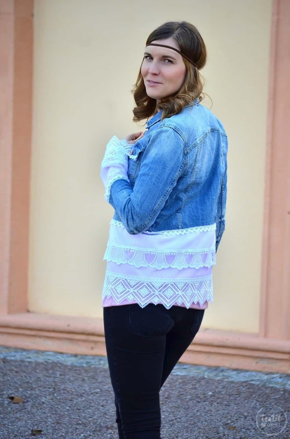Tutorial: Jeansjacke Upcycling - Die fertige Jacke - Bild 5 | textilsucht.de