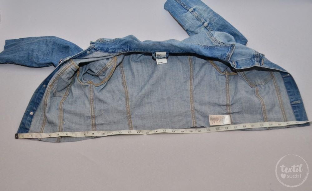 Tutorial: Jeansjacke Upcycling - Schritt 3 | textilsucht.de