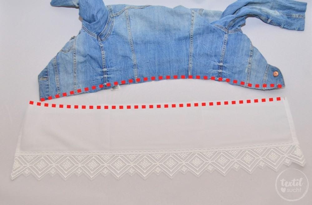 Tutorial: Jeansjacke Upcycling - Schritt 4 | textilsucht.de